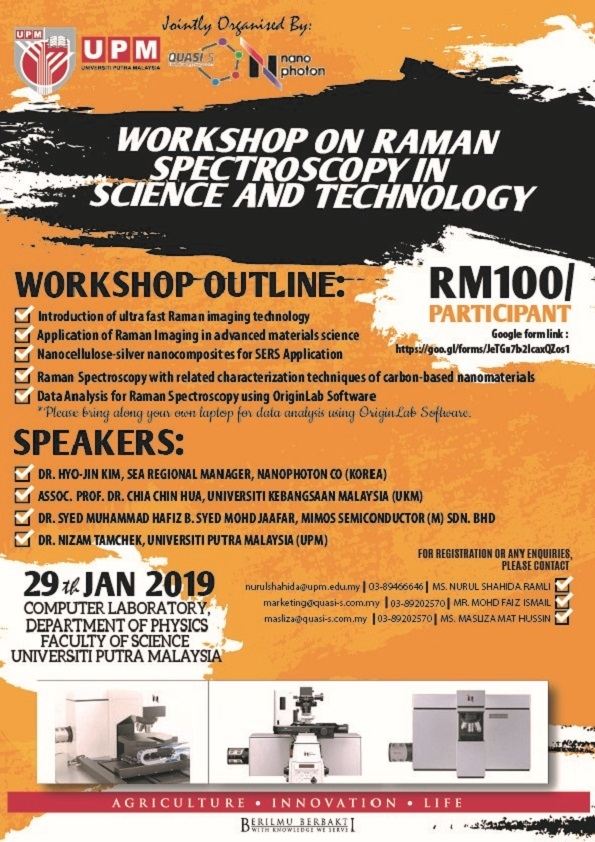 WORKSHOP ON RAMAN SPECTROSCOPY IN SCIENCE AND TECHNOLOGY